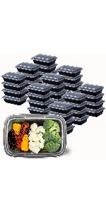 10 Sets 24 oz. Meal Prep Containers with Lids