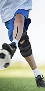 16inch tall hinged knee brace