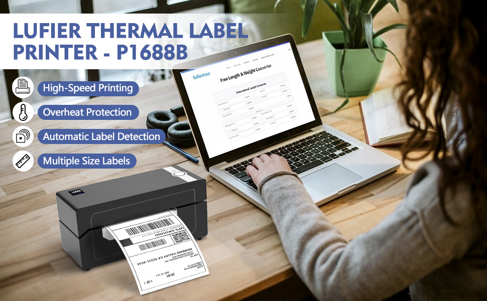 LUFEIR Shipping Label Printer