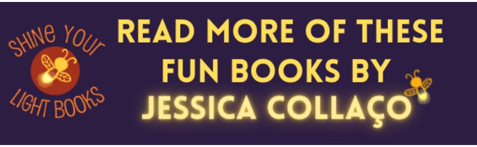 Banner with Read More of these fun books by Jessica Collaco on it