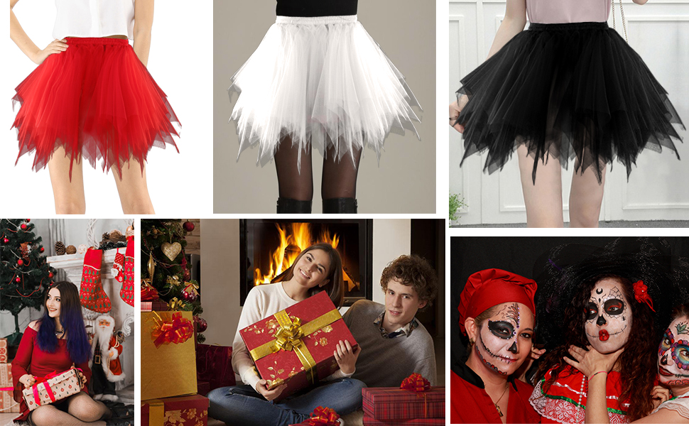 Women's Classic Layered Tulle Tutu Skirt for halloween costume cosplay party
