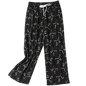 women black pajama pants