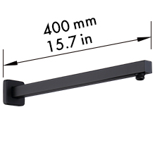 15 inches shower arm