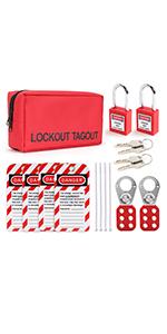 Lockout tagout hasp kit