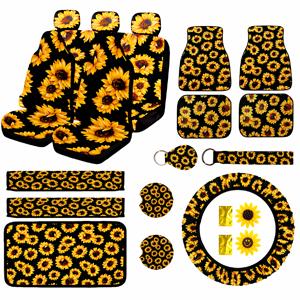sunflower seat covers for cars full set