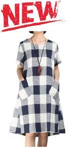 Plaid Tunic Midi Dress
