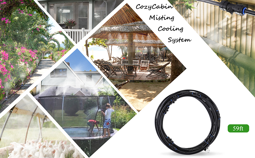 CozyCabin misting cooling system