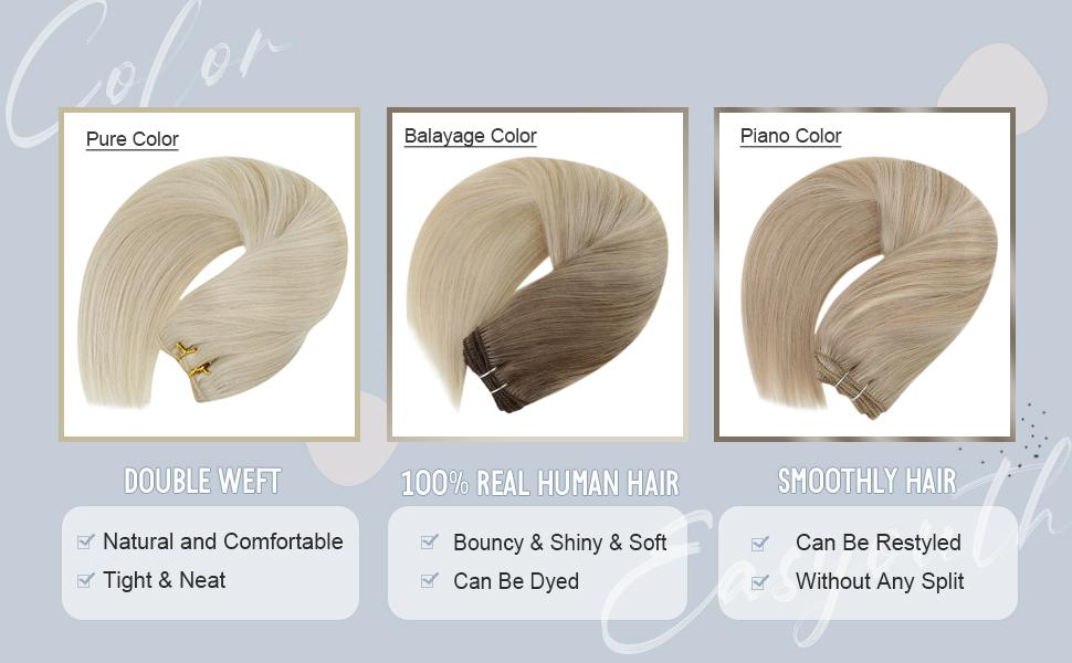 product detail for weft hair