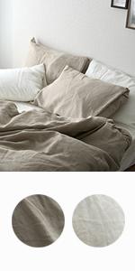 麻100% リネン 枕カバー ピローケース リーノ 洗える 抗菌 防臭 オールシーズン