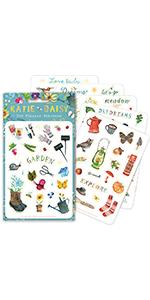 Katie Daisy stickers: Garden Pack