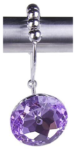 Double Glide Shower Curtain Hooks-Purple