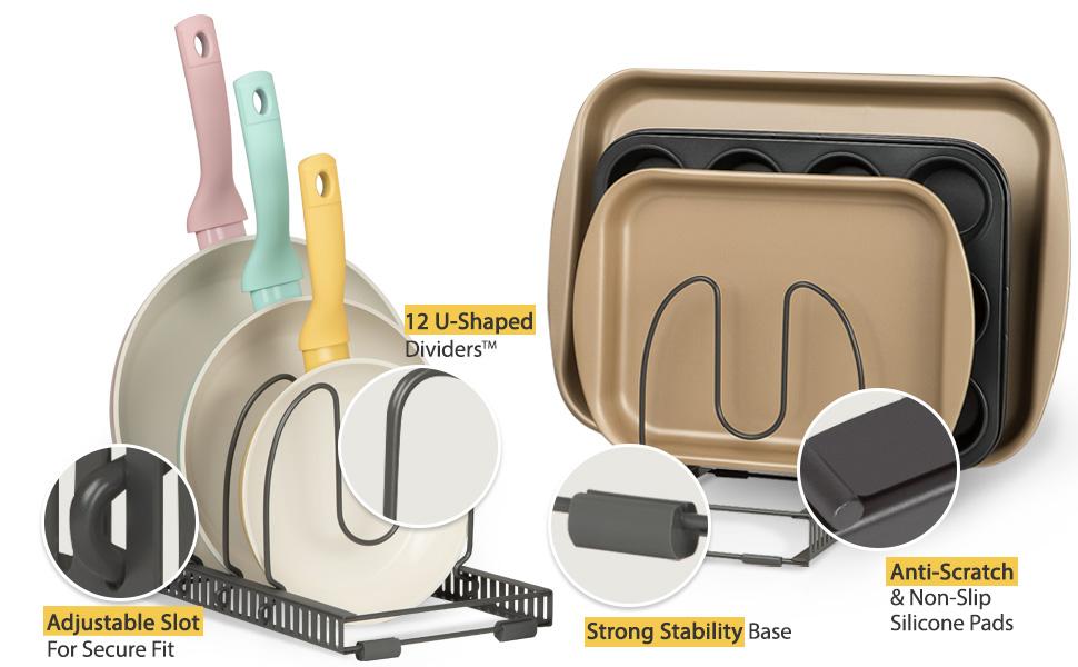 Better Things Home Pan organizer rack