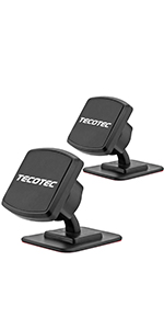 [2 Pack] TECOTEC Upgraded Ultra Strong X8 N50 Magnetic Phone Holder for Car Dash and Console