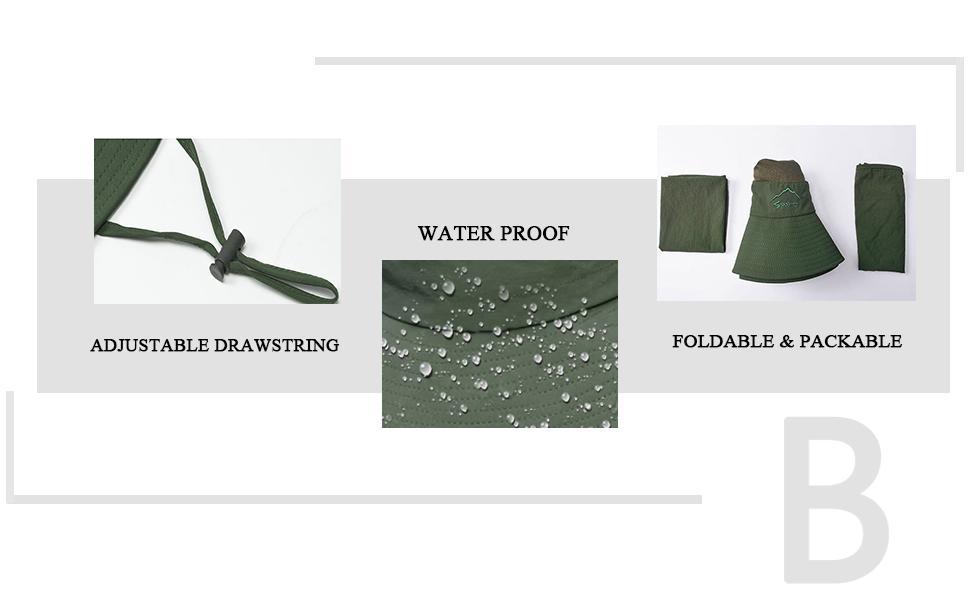 adjustable drawstring watherproof foldable & packable