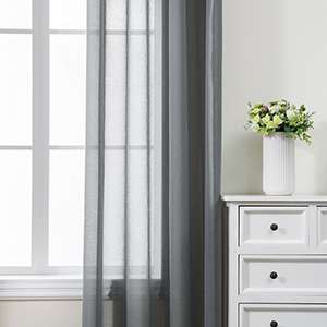 grey sheers curtain for window treatment