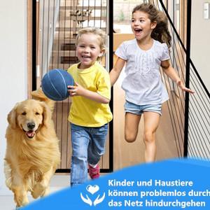 Kinderen en huisdieren kunnen probleemloos door het net lopen