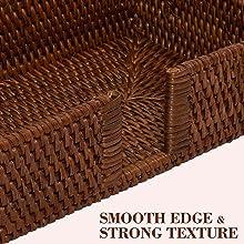 Rattan napkin holder Guest Towel, Dark Brown NC0002-8
