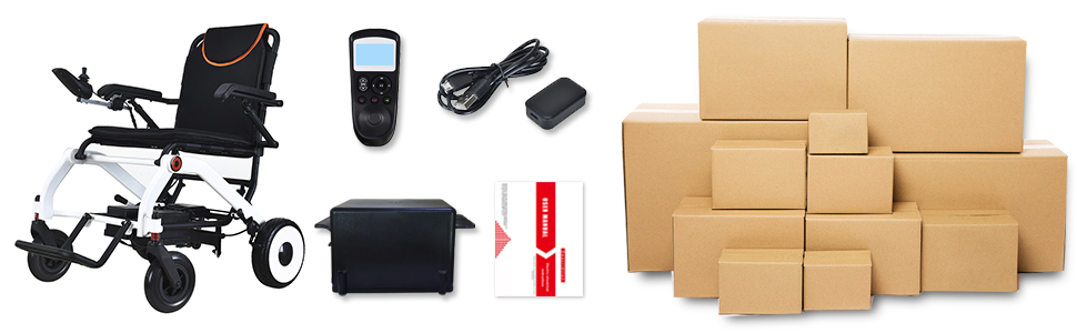 Electric wheelchair packaging includes