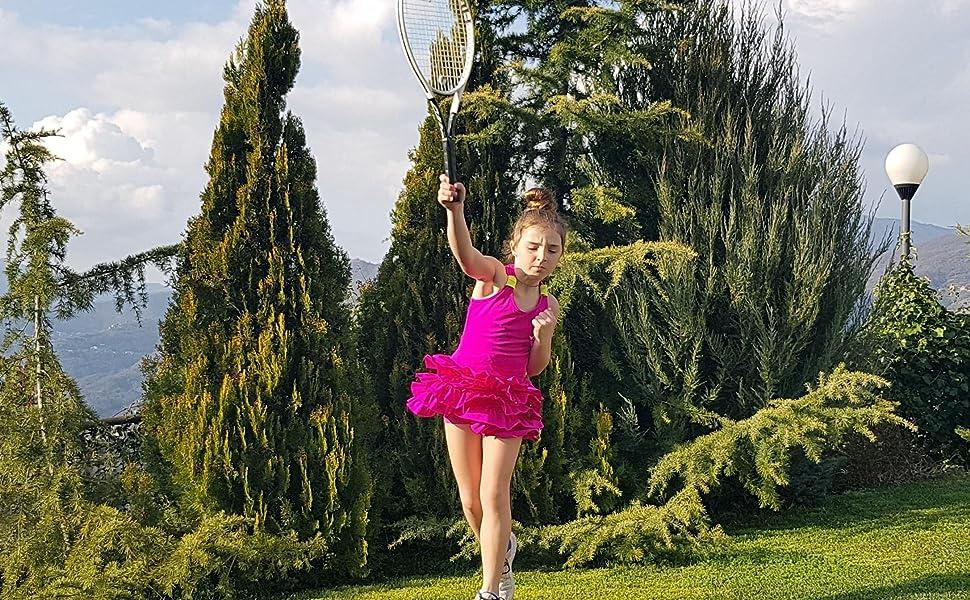 Girls Pink Tennis Dress, Ruffled Tennis dress, Girls Golf Dress