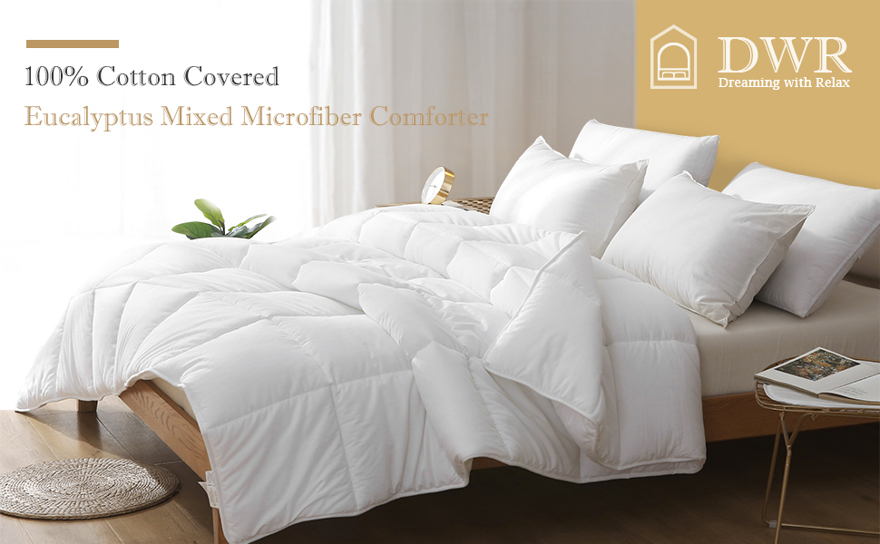 cotton down alternative comforter twin microfiber duvet insert winter