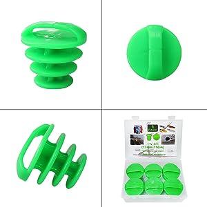 6PCS Universal Kayak Scupper Plugs Kit(green)