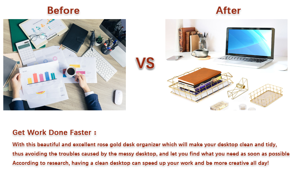 stackable paper tray desk organizer metal letter trays for file documents in home amp; office