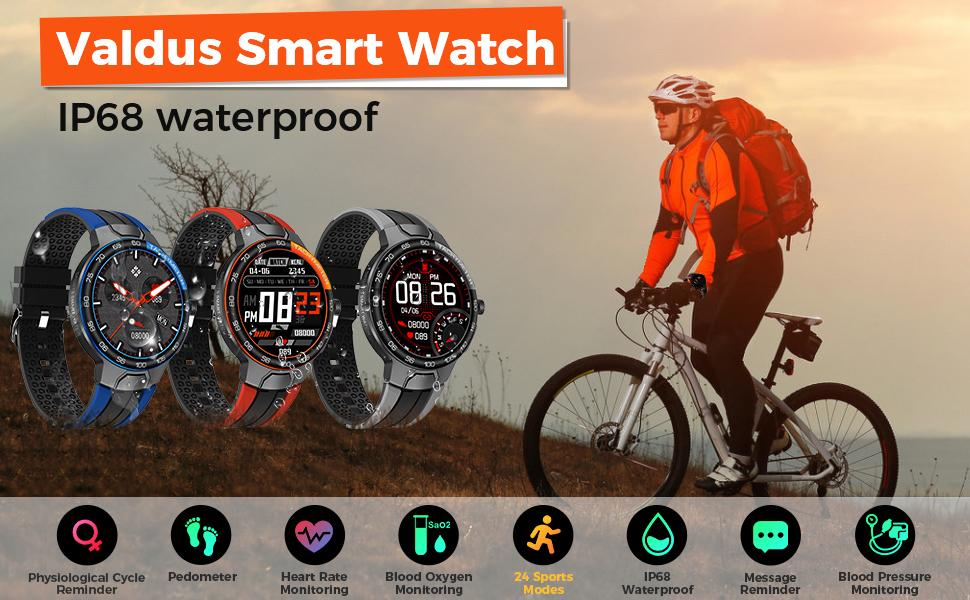 smart watch with fitness tracker