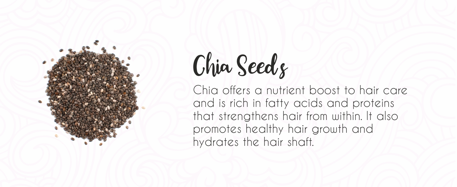 Chia seeds, Curly hair growth, strengthen hair, curly hair products, curl cream