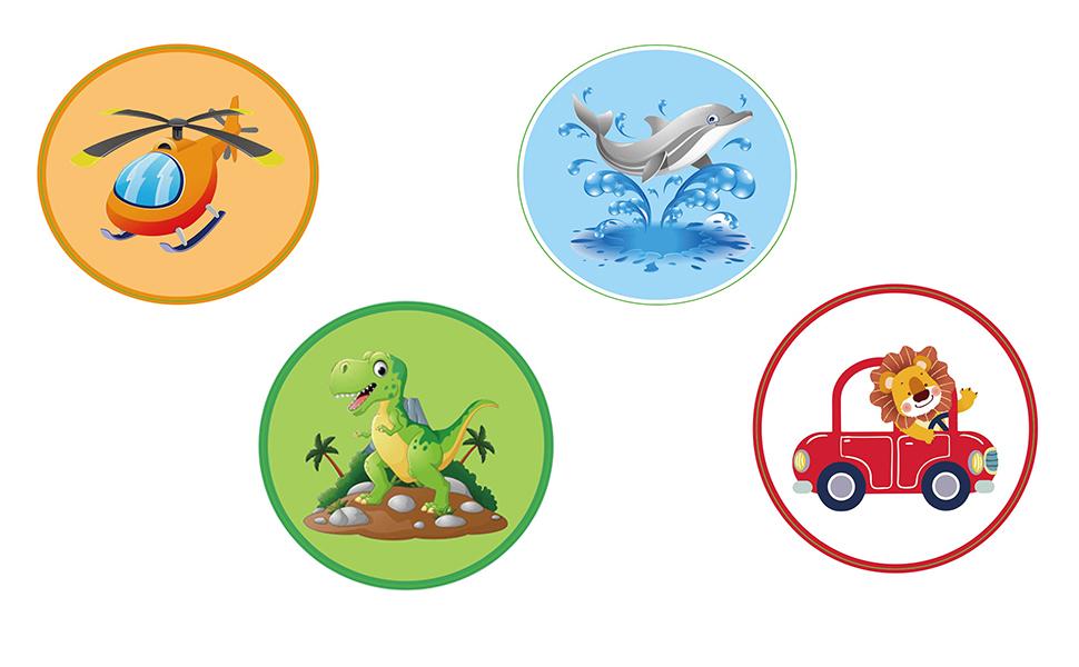 four stickers