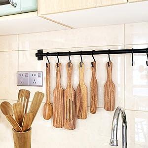 wooden kitchen utensil set