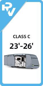 23'-26' Class C RV Cover