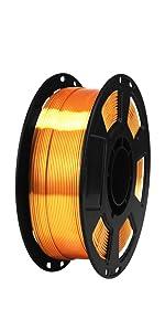 silk metal gold 1.75mm pla filament
