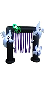 8 Foot Tall Halloween Inflatable Ghosts Spider Archway
