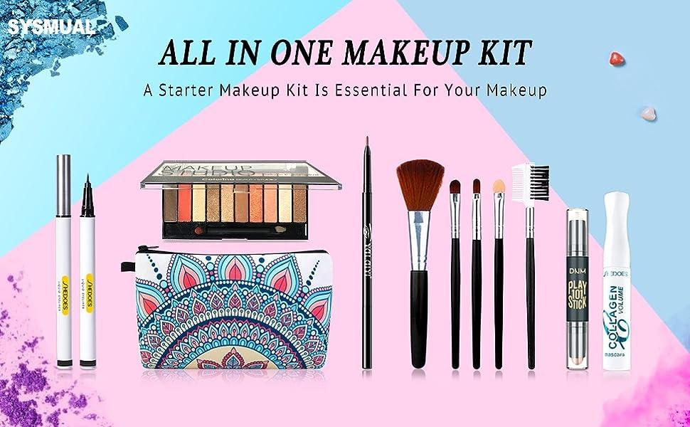makeup kit for women full kit,maquillaje para mujer,makeup set,makeup kits for teen girls