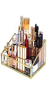 vanity tray in gold