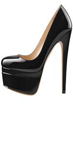 black platform stripper heel
