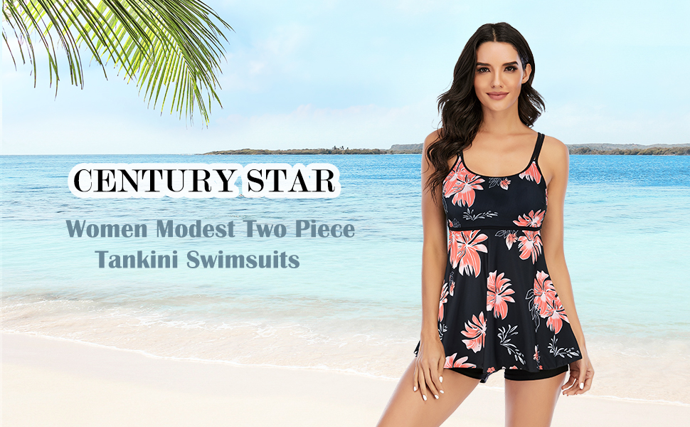 Century Star Modest Tankini Swimsuits for Women