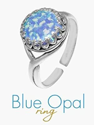 blue opal ring