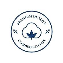 Premium combed cotton