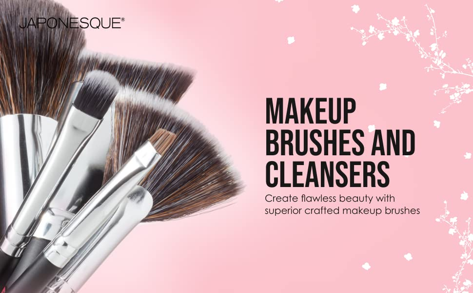 japonesque, makeup brush and cleanser