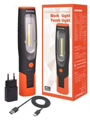USB oplaadbare accu led werklamp looplamp bouwlamp werkverlichting werklicht fakkellampen