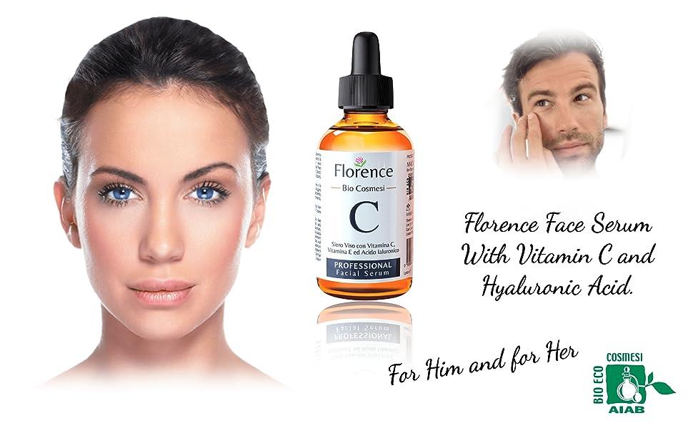 Florence Organics uk A+ vitamin c serum with hyaluronic acid