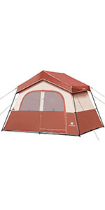 6 Person Tent-Red