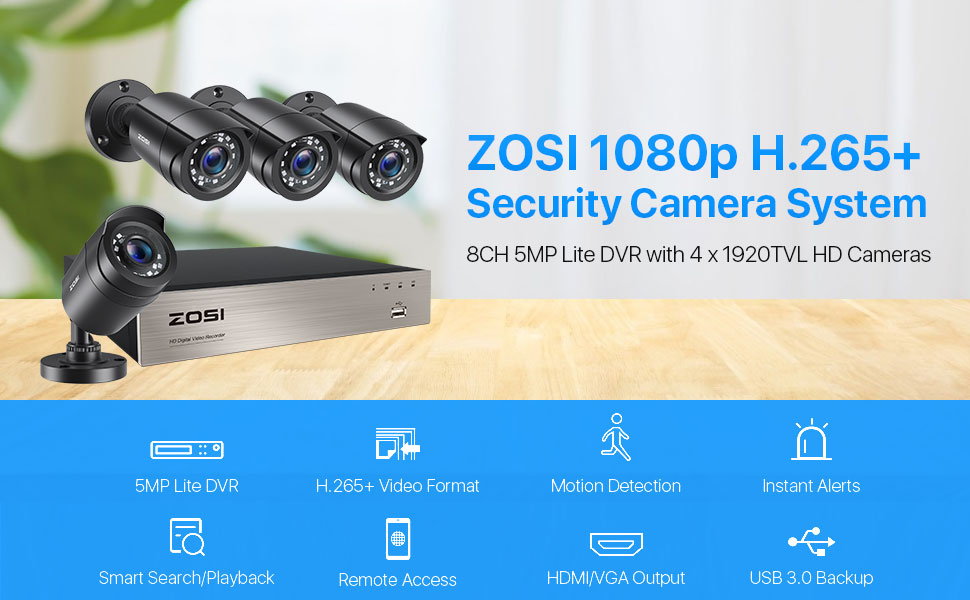 8WN-106B4S-00 8 channel security cameras system