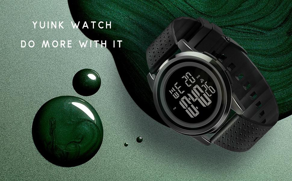 Men's Ultra-Thin Digital Sports Watch