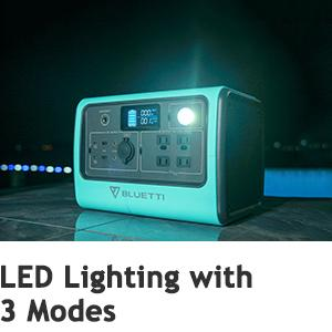 BLUETTI EB70 Solar Battery LED Lighting SOS Signal