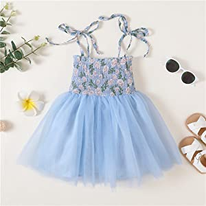 Girl blue tutu dress
