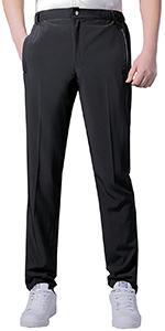 Mens Casual Thin Lightweight Zipper Fly Sweatpants