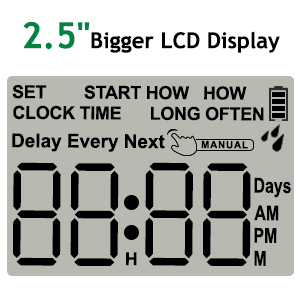 large screen water timer
