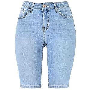 bermuda shorts for women,denim shorts for women,jean shorts for women,denim bermuda shorts